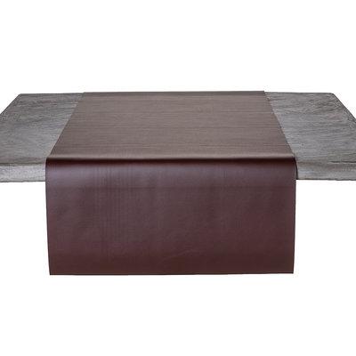 Tischläufer Kunstleder Braun 45 x 140 CM