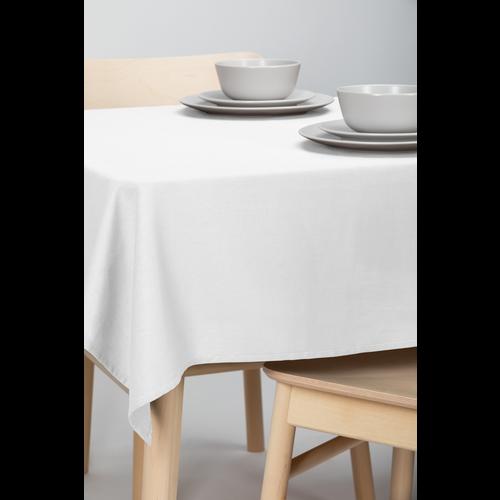 Tischdecke Dordogne Uni Weiß 140 x 250 CM