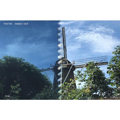 Sonnenschutzfolie Statisch Blau Transperant - 90CM Breit