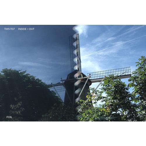Sonnenschutzfolie Statisch Dunkel Transperant - 90CM Breit
