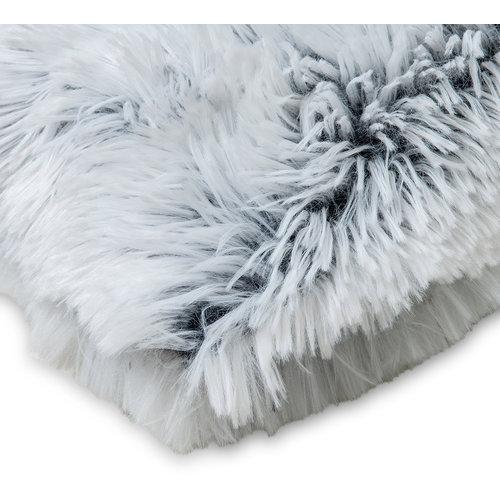 Kuscheldecke Kunstfell Weiß  - Schwarz 150x200 CM