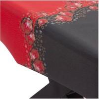 Beschichtete Tischdecke Weihnachten Rot/Schwarz