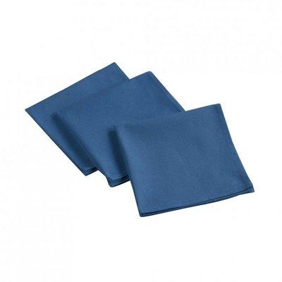 Baumwollservietten 3 Stück - Blau