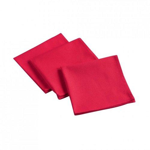 Baumwollservietten 3 Stück - Rot