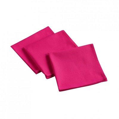 Baumwollservietten 3 Stück - Rosa