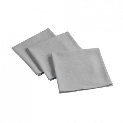 Baumwollservietten 3 Stück - Grau