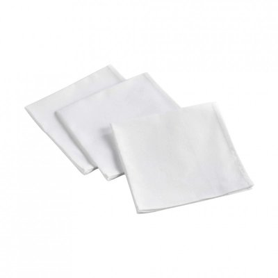 Baumwollservietten 3 Stück - Weiß