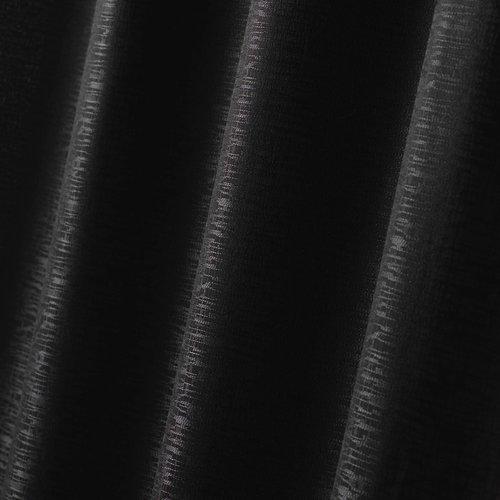 Vorhang Ringe Jacquard Polyester Schwarz 140 x 260 cm