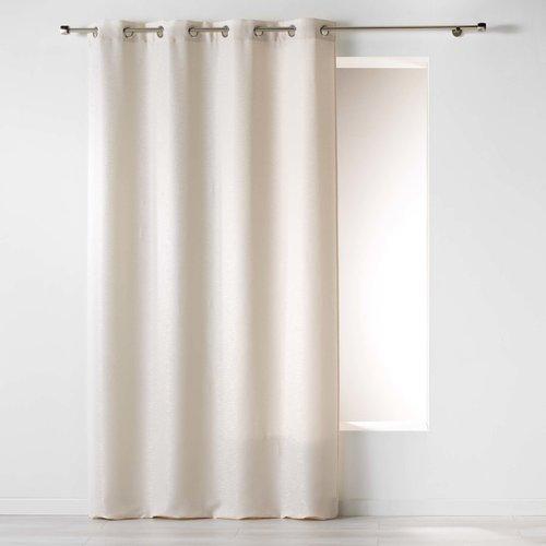 Superdekoshop.de Vorhang ringe Jacquard-Polyester Natur 140 x 260 cm
