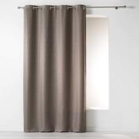 Vorhang ringe Jacquard-Polyester Taupe 140 x 260 cm