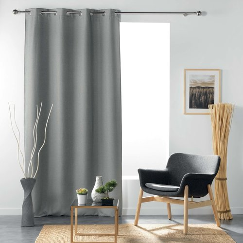 Superdekoshop.de Vorhange Ringe Grau 135 x 240 cm