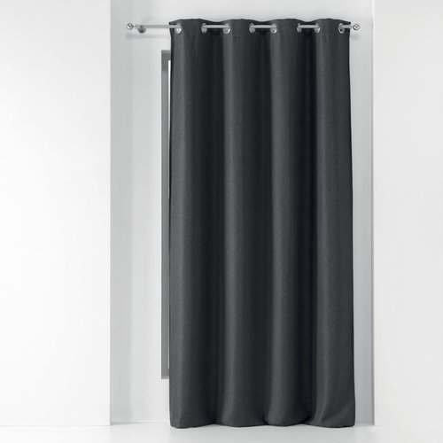 Superdekoshop.de Vorhang Tamina Dunkelgrau 135 x 240 cm