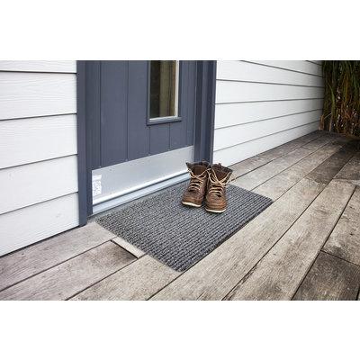 Fußmatte Outdoor Schmutzfangmatte 50 x 80 cm Grau Schwarz