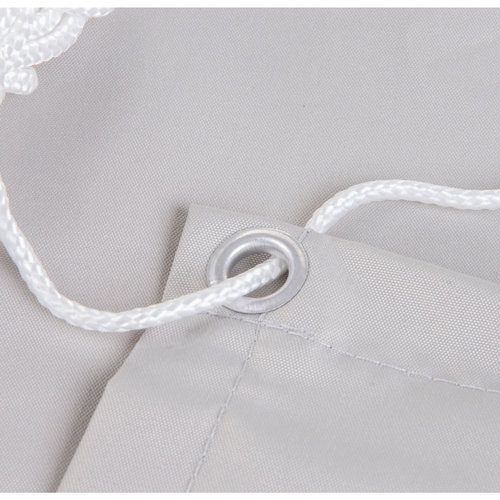 Balkonsichtschutz Rechteck Weiß HDPE
