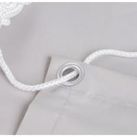 Balkonsichtschutz Rechteck Weiß Polyester