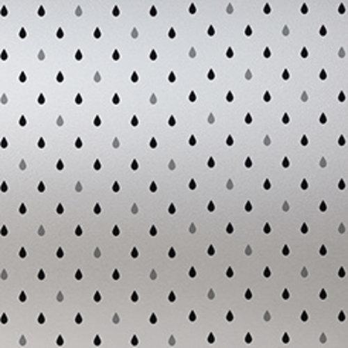 Fensterfolie Anti-Verdunkelungs 46CM x 1.5M - Regengrau