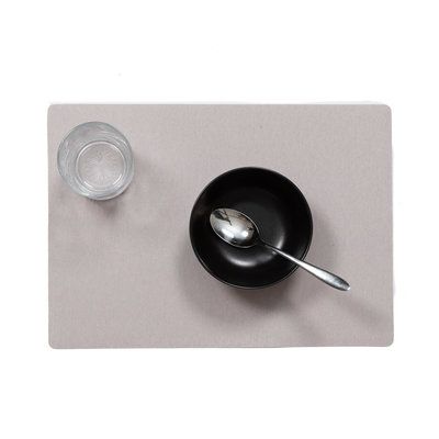 Tischset Uni hellgrau