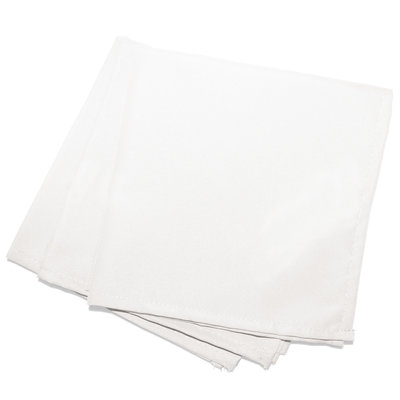 Servietten Essentiel 40x40cm Polyester Weiß