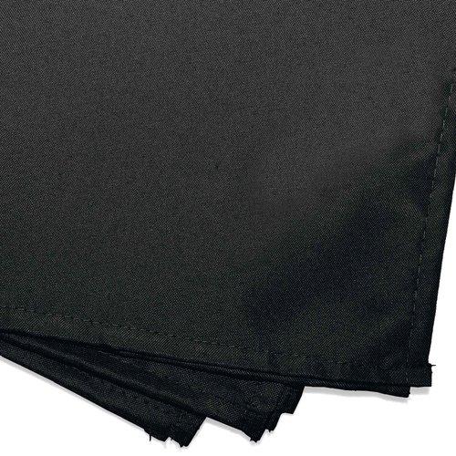 Servietten Essentiel 40x40cm Polyester Schwarz