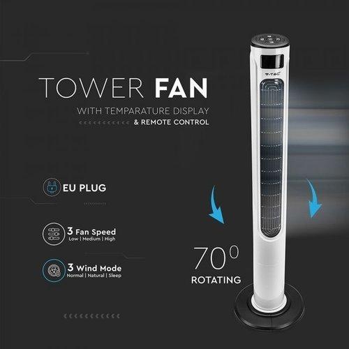 Smart Tower Fan mit LED-Anzeige und Fernbedienung