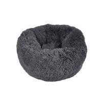 Katzenkörbchen-Hundematte-Fluffy rund 55cm dunkelgrau