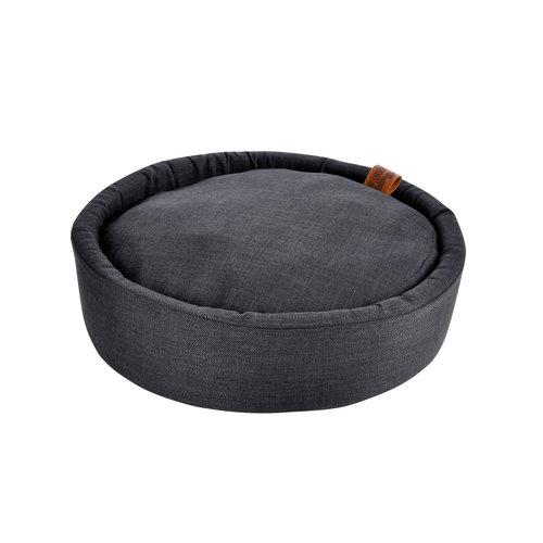 hundekissen-Hundematte-Cosy rond 60cm Dunkel Grau