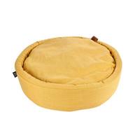 hundekissen-Hundematte-Cosy rond 60cm Gelb
