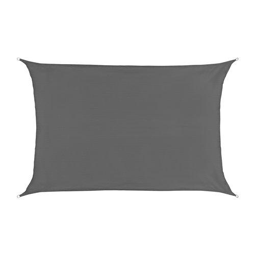 Sonnensegel Rechteck Grau HDPE