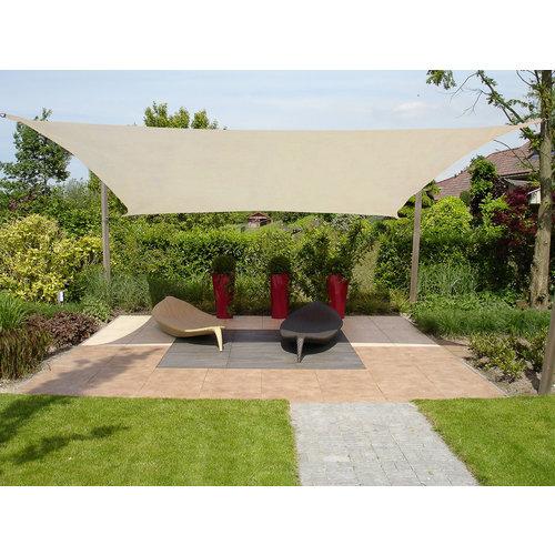 Sonnensegel Rechteck Creme Polyester 4x2M