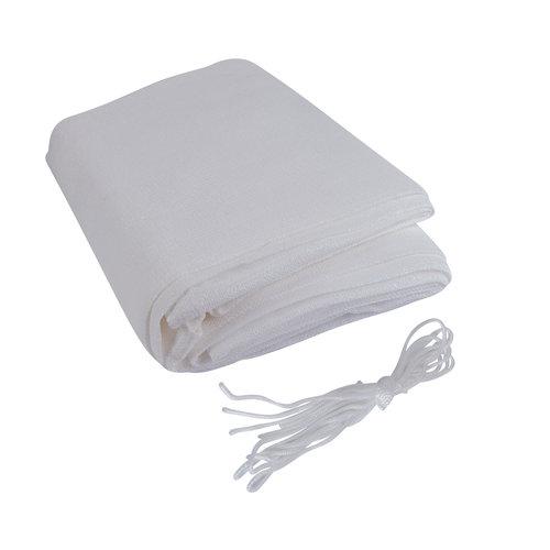 Sonnensegel Rechteck Weiß Polyester 4x2M