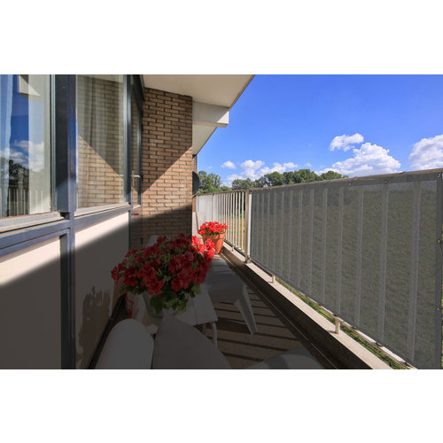 Balkonsichtschutz Rechteck Anthrazit HDPE