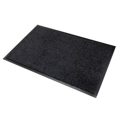 Fußmatte Washclean Schwarz Mit Gummikante - 9mm Dicke