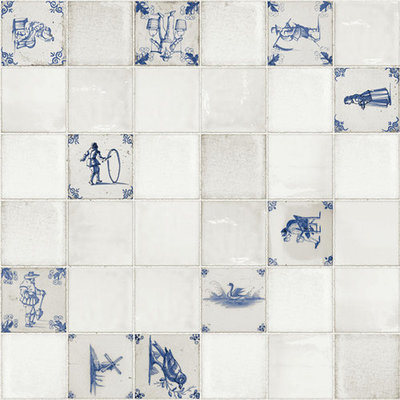 Tischdecke PVC Wachstuch Delft