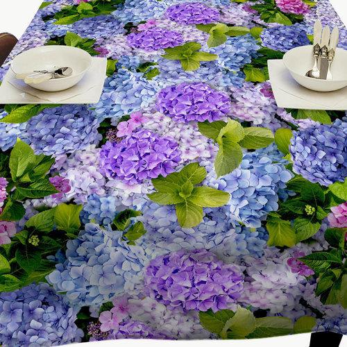 Tischdecke PVC Wachstuch Hortensia