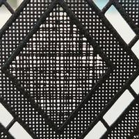 Fensterfolie statisch gegen Betrachtung Textil Rhombus schwarz 46cm x 1,5m