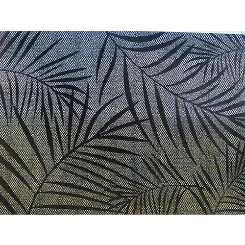 Fensterfolie statisch gegen Betrachtung Textil palmen schwarz 46cm x 1,5m
