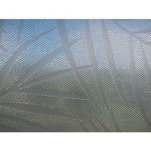 Fensterfolie statisch gegen Betrachtung Textil palmen grau 46cm x 1,5m