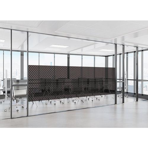 Fensterfolie statisch gegen Betrachtung Textil Rhombus schwarz 46cm Breit