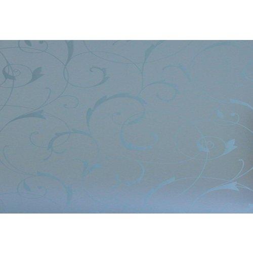 Fensterfolie Statisch 45CM x 2M - Blumen weiß
