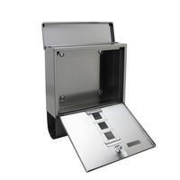 Suprezzo Suprezzo Briefkasten Santos Silber - 2 Schlüssel