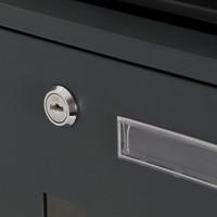 Suprezzo Suprezzo Briefkasten Santos Schwarz - 2 Schlüssel