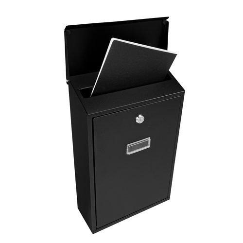Suprezzo Suprezzo Briefkasten Ario Schwarz - 2 Schlüssel