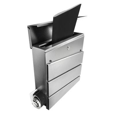 Suprezzo Briefkasten Esteban Silber -  2 Schlüssel