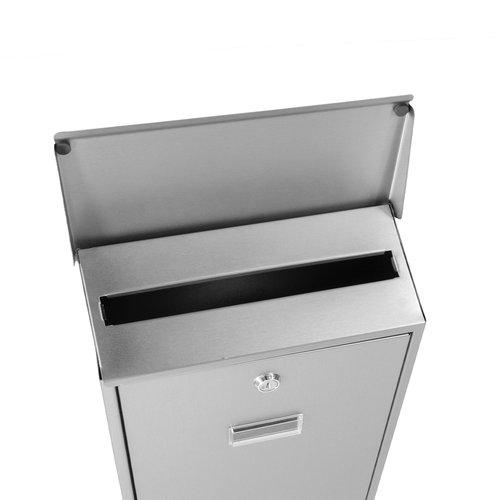 Suprezzo Suprezzo Briefkasten Dario Silber - 2 Schlüssel
