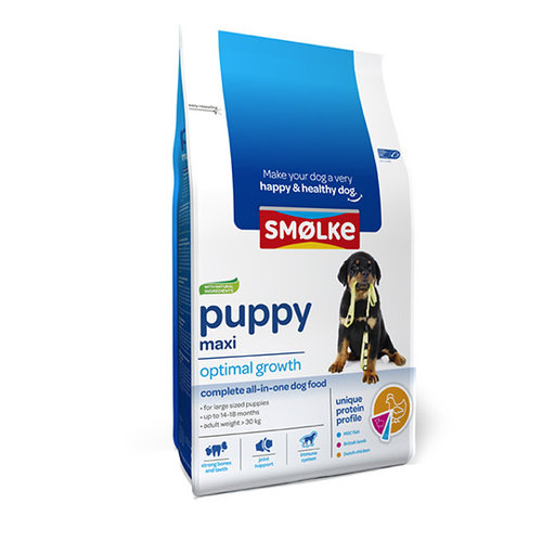 Smolke Smolke Hond Puppy Maxi 12kg.