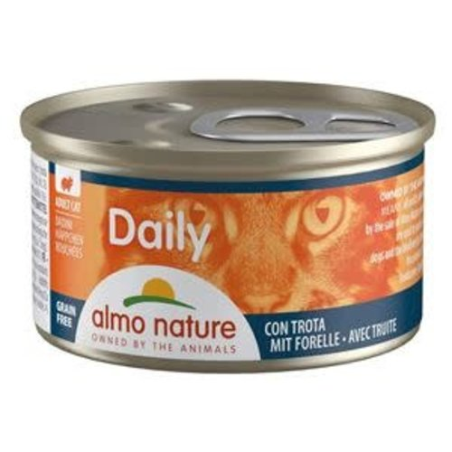 Almo Nature Almo Nature Kat Daily Menu Natvoer - Blokjes met Forel 85g