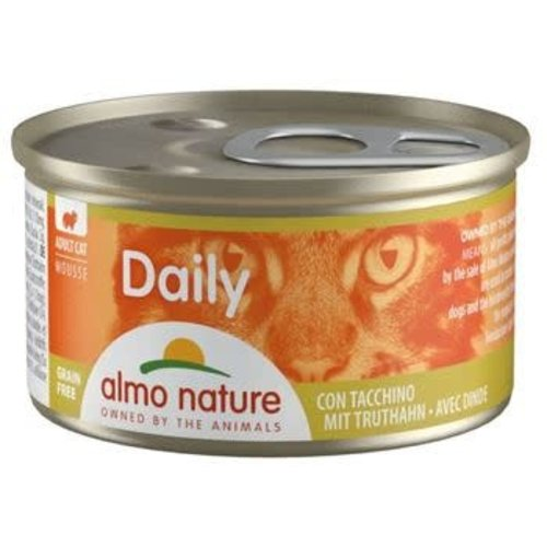Almo Nature Almo Nature Kat Daily Menu Natvoer - Mousse met Kalkoen 85g