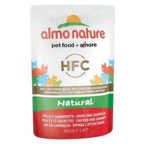 Almo Nature Almo Nature Kat HFC Natvoer - Natural - Kip en Garnalen 55g