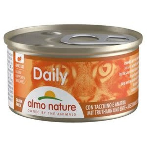 Almo Nature Almo Nature Kat Daily Menu Natvoer - Blokjes met Kalkoen en Eend 85g