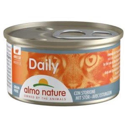 Almo Nature Almo Nature Kat Daily Menu Natvoer - Mousse met Steur 85g